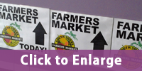 Farmers Market Signages